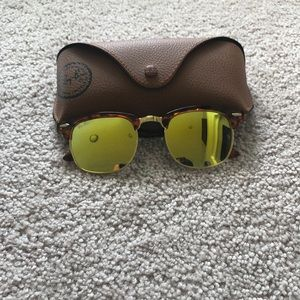Other - Clubmasters Leopard/Gold Sunglasses
